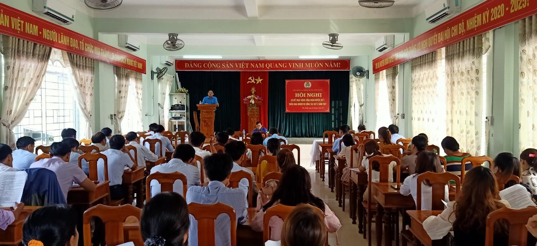 Hội nghị sơ kết công đoàn huyện quý I năm 2021